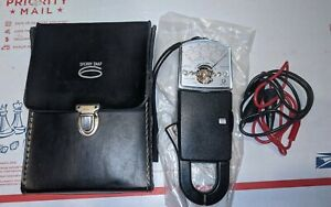 Vintage Sperry 300 Snap 8 Ohm Ammeter With Leather Case