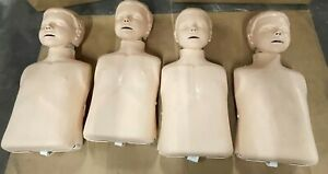 Lot Of 4 Laerdal Little Anne Little Junior Cpr Manikins Bags Great Condition