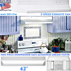 Kitchen Exhaust Hood Stove Fan 230cfm Ductless Under Cabinet Led Stainless Steel