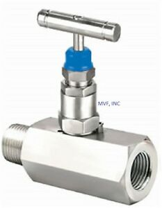 Needle Valve 1 2 Male Npt X 1 2 Female Npt 6000 Psi Stainless Nace