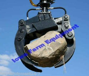 Bypass Grapple 3 tine Stone rock Grapple 41 Valby Sg41 R45 Hydraulic Rotator