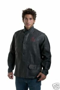 New Tillman Onyx Black Leather Welding Jacket 3930 Med