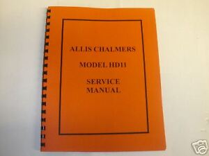 Allis Chalmers Model Hd11 Crawler Service Manual