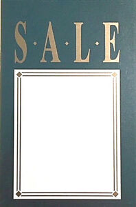 Lot Of 100 luxurious Elite Green Gold Retail Store Sale Signs Price Tags