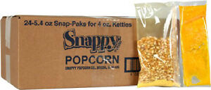 Snappy Popcorn Portion Paks For 4 Oz Poppers Case Of 24 Movie Theater Taste