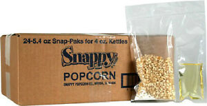 White Popcorn Portion Paks For 4 Oz Poppers Case Of 24
