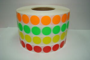 20 Rolls Of 1 Round Red Blank Thermal Transfer Labels 5100 Labels Per Roll