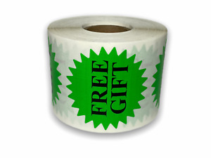 500 Labels 2 Green only Free Gift Starburst Mailing Shipping Stickers 1rl