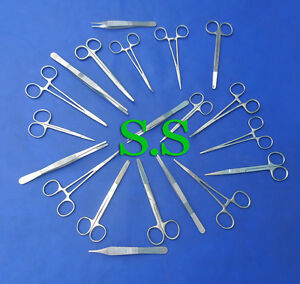 35 Scissors Forceps Needle Holders Surgical Dental Kit