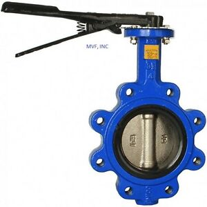 Butterfly Valve 2 Lug Style 200 Wog Ductile Body Bronze Disc Buna Rubber Seat