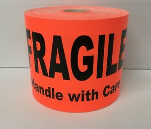 4 x6 Br red Fragile Handle With Care Shipping Pallet Warning Labels 250 roll