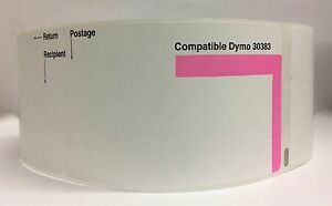 16 Rolls 30383 3 part Endicia Internet Postage Dymo Compatible Labels 150 P r
