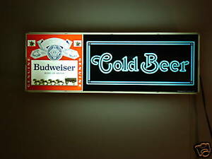 Classic Budweiser 1979 Electric cold Beer Sign 03 4