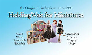Museum Wax For Holding Fine Collectibles Dollhouse Miniatures Antiques Jewels