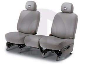 09 10 Dodge Ram 1500 2500 3500 Front Seat Covers Cover Custom Fit Gray Mopar Oem