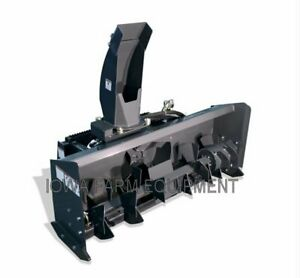 Skid Steer Snow Blower virnig 84 High Flow 33 42gpm Paddle style Auger