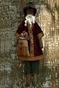 Pattern Christmas Black Santa Claus Doll Sack Crows