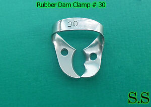 50 Endodontic Rubber Dam Clamp 30 Dental Instruments