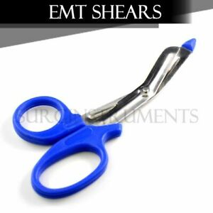 Emt Shears scissors Bandage Paramedic Ems Rescue Supplies 5 50 Royal Blue Tip