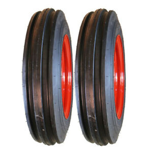Two 4 00 12 Farmall Oliver Tractor Pulling Front Tires Wheels Rims Kit n