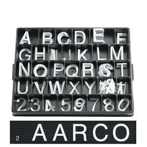 2 White Changeable Sign Plastic Letters Menuboard