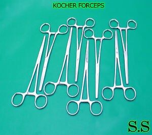 10 Kocher Forceps 8 Str Surgical Medical Instruments