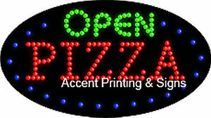 Open Pizza Flashing Animated Real Led Sign