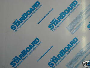 3 8 X 24 X 27 White King Starboard Polymer Hdpe Marine Sea Board Free Shippi