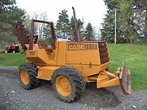 Case 760 Trencher 4way Blade Cummins Diesel 1300 Hours one Owner