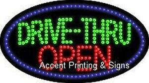 Drive thru Open Flashing Animated Real Led Sign