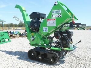 Drum Type Wood Chipper Tracked Self powered Peruzzo Tb100 Chip 4 d X 12 wide