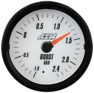 Aem Analog Turbo Boost Gauge 2 4bar 30 5132mw