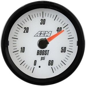 Aem Analog Turbo Boost Gauge 60psi 30 5137w