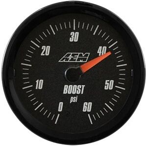 Aem Analog Turbo Boost Gauge 60psi 30 5137b