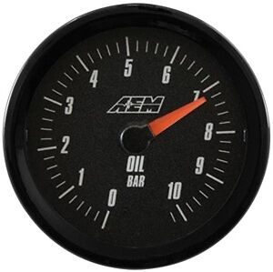 Aem Analog Oil Pressure Gauge 10 2bar 30 5135mb