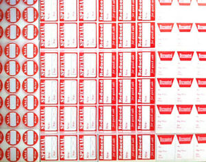 Theyre Back Assorted Pack Red Retail Store Sale Price Stickers Tags Labels