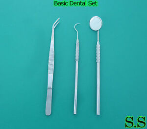 210 Instruments Basic Dental Set Mirror Explorer Plier Pr 147