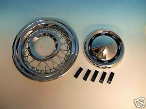 56 Chevy Accessory Wire Wheel Covers Complete New 1956 Set Of 4