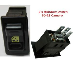 Camaro Z28 Window Switch Set 1990 92 10098781 2 Gm Approved New