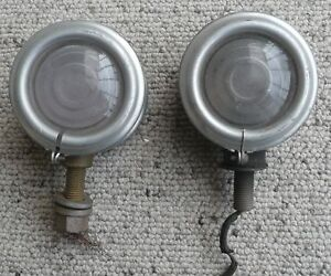 Vintage Pair Of Cowl Lights