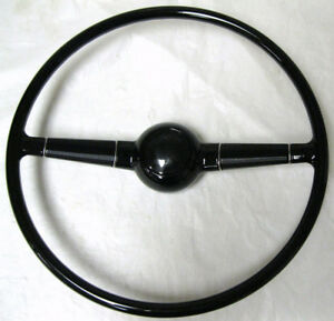 1940 Ford Deluxe Gloss Black Steering Wheel W Button Original 17 40 Style