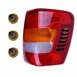 New Right Tail Light Assembly With Sockets Bulbs Fits 99 04 Jeep Grand Cheroke