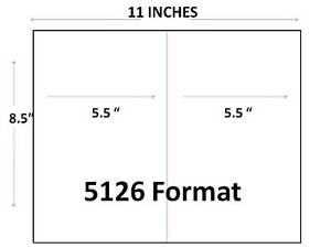 Generic Blank Shipping Labels 8 1 2 X 5 1 2 1 400 Pk 7 Pks Of 200 Labels