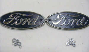 1934 Ford Pickup Truck Blue Logo Hood Emblem 34 Pair Set Of 2 Really Nice