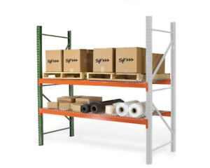 New Teardrop Pallet Rack Add on Kit With Wire Deck 36 d X 96 w X 96 h