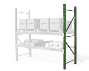 Teardrop Pallet Rack Upright 96 h X 36 w 19 000 Lb Capacity