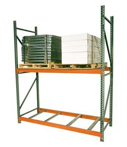 Teardrop Pallet Rack Upright 192 h X 42 w 30 000 Lb Capacity