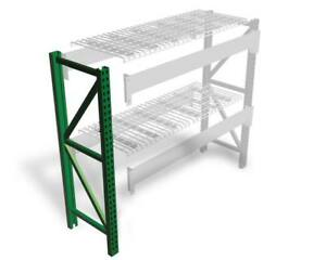 Teardrop Pallet Rack Upright 168 h X 42 w 19 000 Lb Capacity