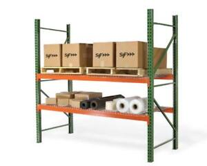 Teardrop Pallet Rack Upright 96 h X 48 w 30 000 Lb Capacity