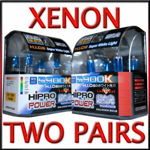 H1 9005 5900k 100watt Xenon Hid Halogen Headlight Bulbs Low high Beam Combo